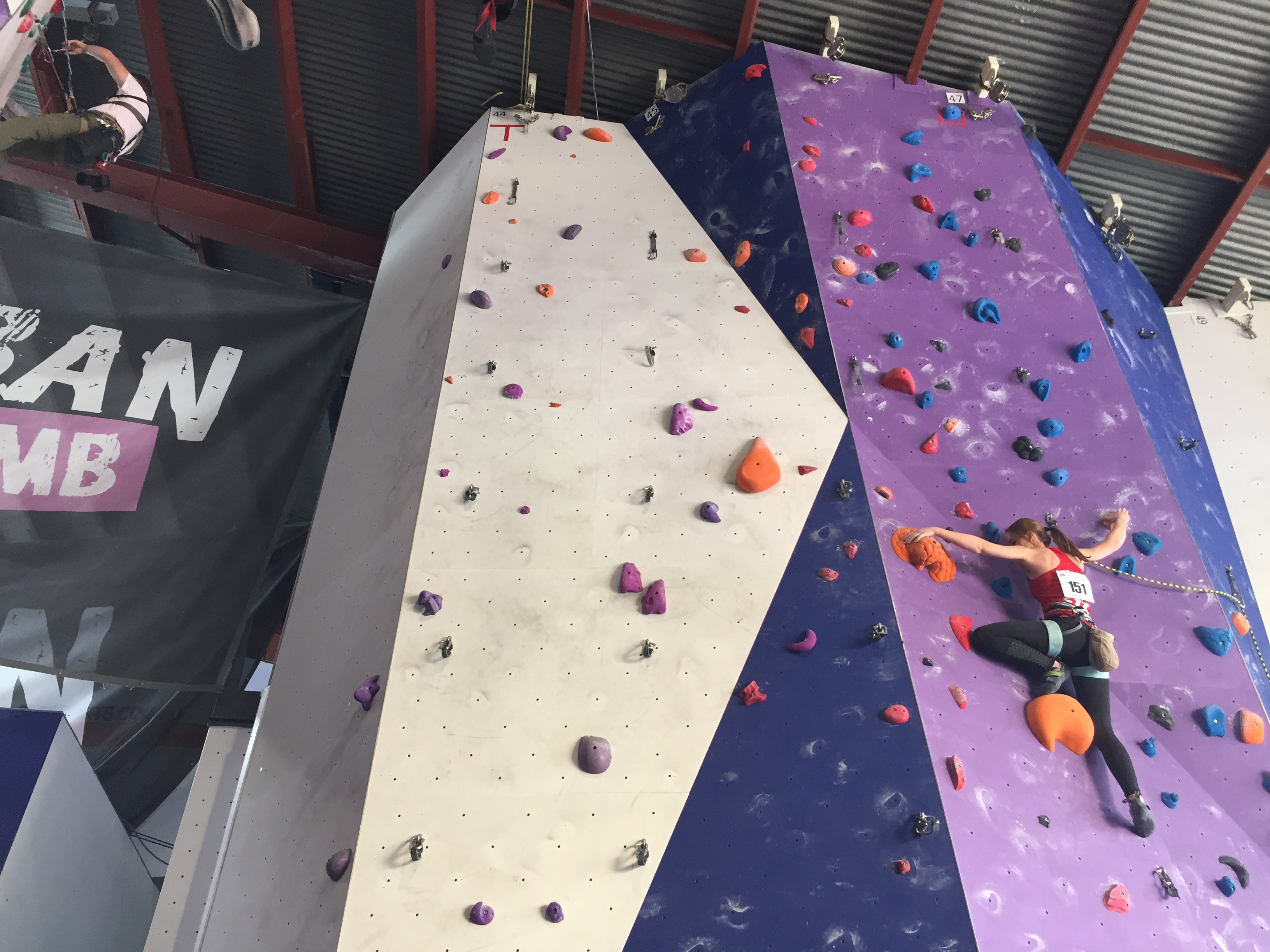 climber at SCA Nationals