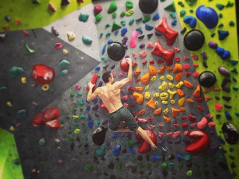 james on his training wall